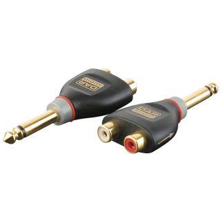 0 DAP-Audio - XGA41 - Jack/M mono > 2 x RCA/F - Inclusi 2 resistori da 10 kilo-Ohm