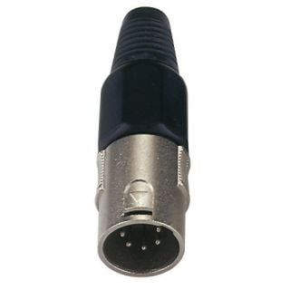 0 DAP-Audio - XLR 5p. Connector Male - Cappuccio finale nero
