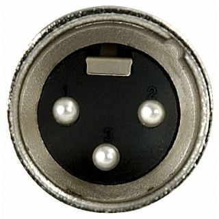 0 DAP-Audio - XLR 3p. Connector Male, Nickel housing - Cappuccio finale nero
