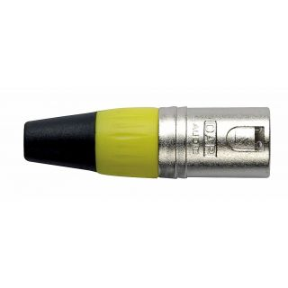0 DAP-Audio - XLR 3p. Connector Male, Nickel housing - Cappuccio finale giallo