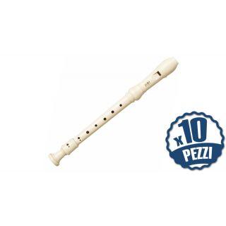 YAMAHA YRS24B - 10 Flauti Dolci in DO Diteggiatura Barocca Bundle Speciale Scuola