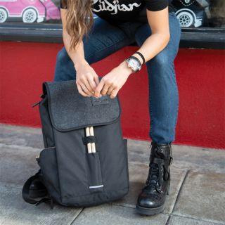 Zildjian T9001 - Zaino Nero Grigio Impermeabile per Laptop con Smart Sleeve03