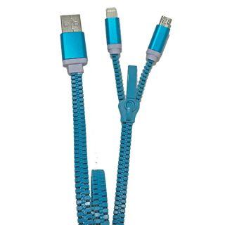 ZZIPP Cavo USB 2 in 1 Blu