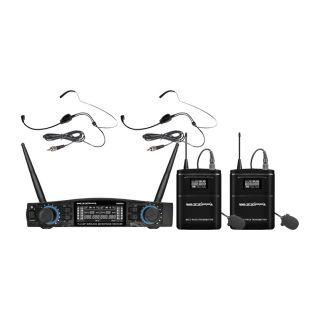 ZZIPP TXZZ584 Set Radiomicrofono con 2 Archetti UHF 48 Canali