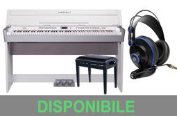 MEDELI Pianoforte digitale con Mobile / Panca in legno e Cuffia Presonus
