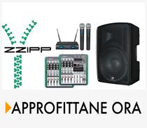 radiomicrofoni mixer e casse zzipp