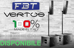 FBT Vertus CS1000 Sistema Audio Subwoofer 600W + Satellite 400W
