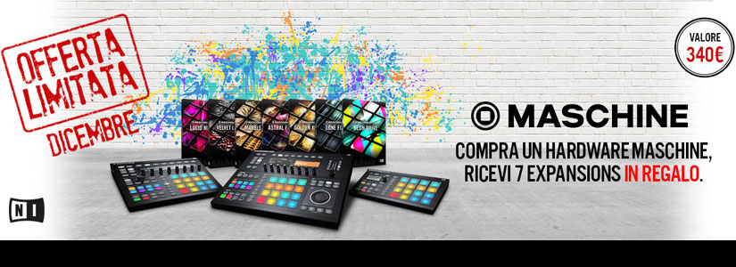 Acquista un hardware NI MASCHINE e hai in regalo 7 expansion set