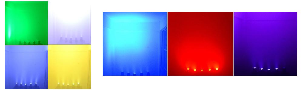 effetto luce testa mobile a led wash