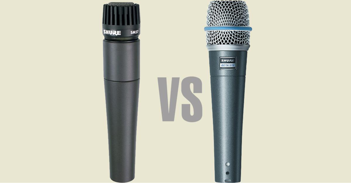 microfono shure confronto tra SM57 e Beta57