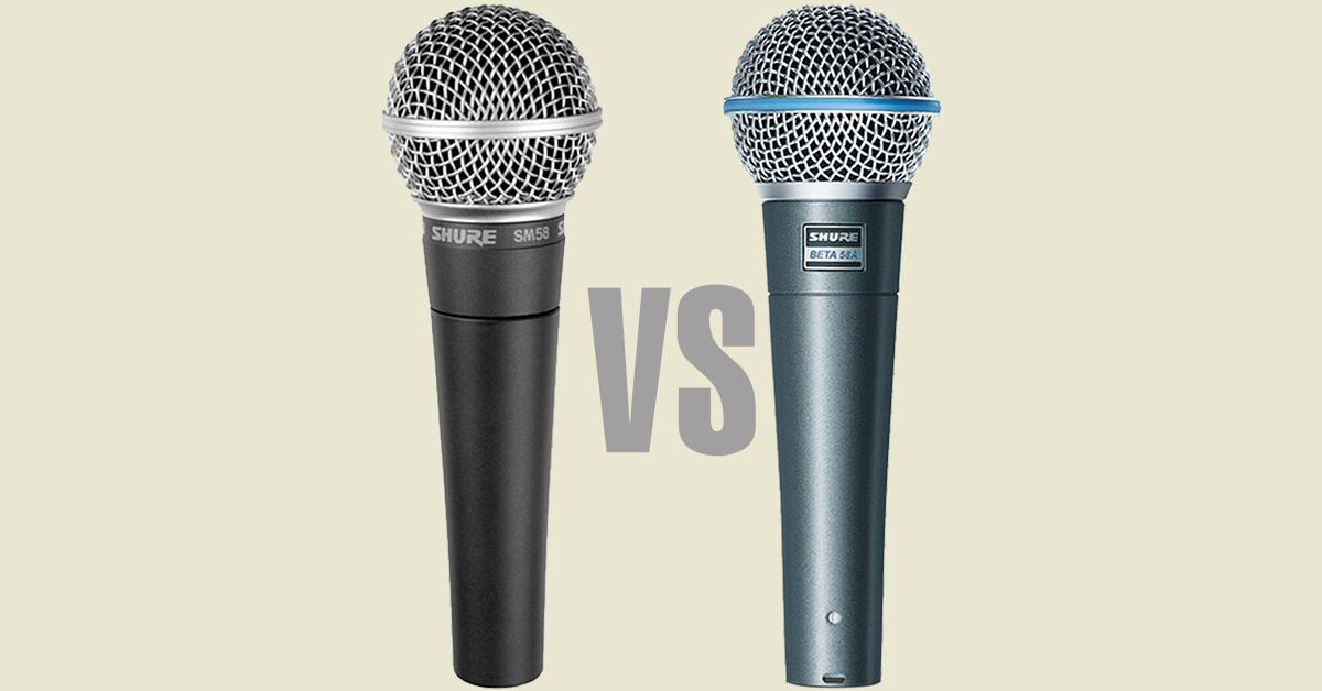 confronto microfono shure SM58 e Beta58