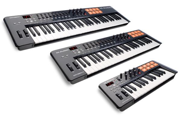 m-audio oxygen tastiere e controller midi usb