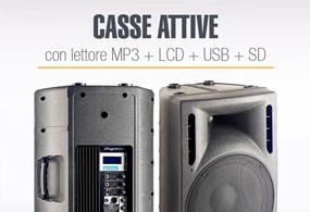 Casse Attive con lettore MP3 + LCD + USB + SD