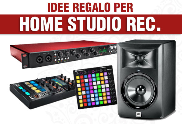 Idee regalo home studio recording