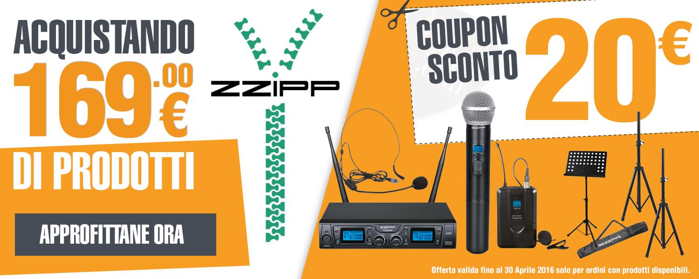 Zzipp promozione buono acquisto